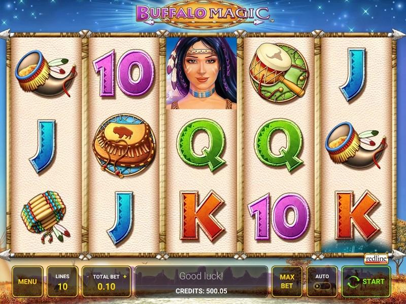 Buffalo Magic Game screen and symbols