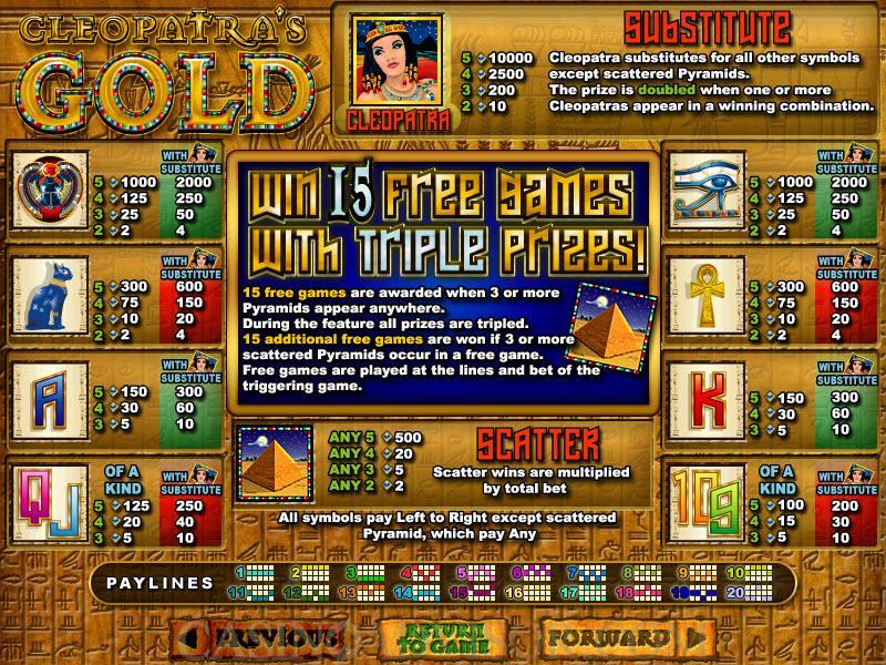 Spiele CleopatraS Gold - Video Slots Online