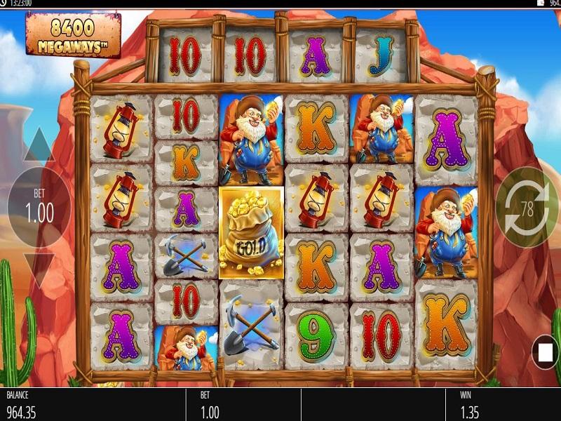 Diamond Mine Megaways Game screen and symbols