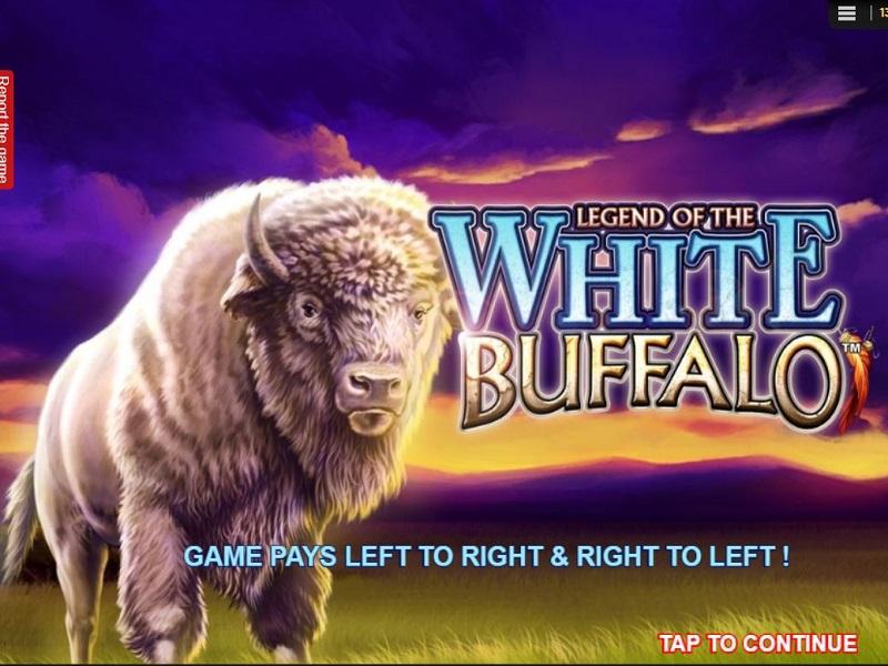 Legend of the White Buffalo Game logo screen